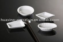 Manufactures of elegant white small ceramic sauce dishes to restaurant for wholesale