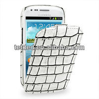 TETDED Premium Leather Case for Samsung Galaxy S3/SIII Mini I8190 -- Troyes (Wild: White Duo Croc)