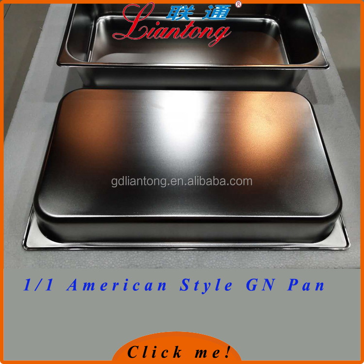 GN PAN direct manufacturer 1/1 0.8mm thickness food pan gn stainless steel