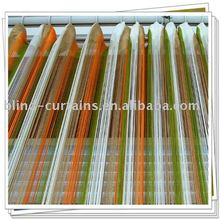 Multicolor thread curtain