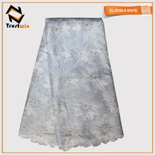 CL10103-6 african white cotton voile lace fabric