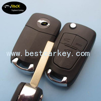 Hot selling 3 buttons flip plastic key blanks for chevrolet cruze key for chevrolet key cover