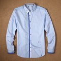 OEM custom lable fashion long sleeves casual dress shirt cotton polyester shirts