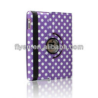 smart magnetic cover leather case cute swiveling polka dot case stand for ipad air 5
