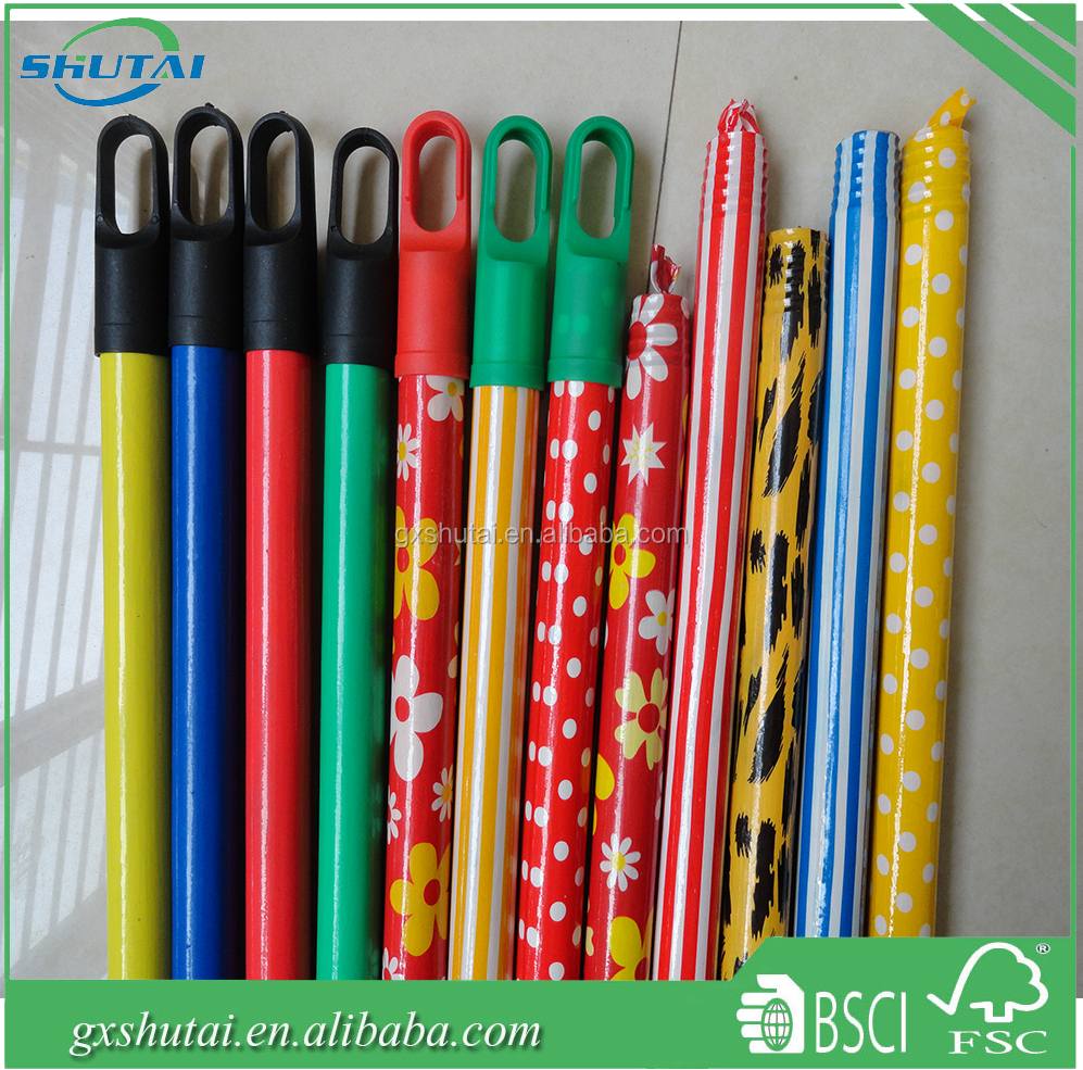 Cleaning material flower long handle broom stick