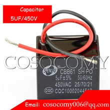CBB61 Metallized Capacitor for Motor Start-up Ceiling Fan 450VAC 450V 5uF