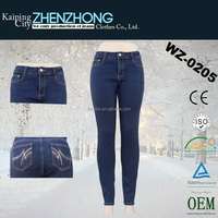 Denims Low waist Trendy China Garment Jeans Low Price New Design