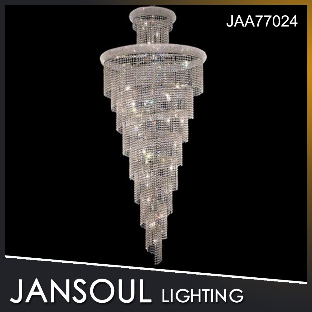 luxury wedding decoration clear crystal chandeliers for hotel or wedding centerpiece