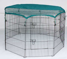 zinc portable outdoor folding rabbit run pet fence enclosure metal dog fence
