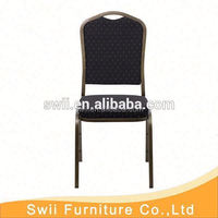 factory price upholstered steel banquet chair aluminum banquet chair
