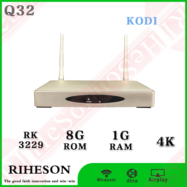 global smart box RK3229 1g/8g 4k quad core wifi kodi on android tv box programming