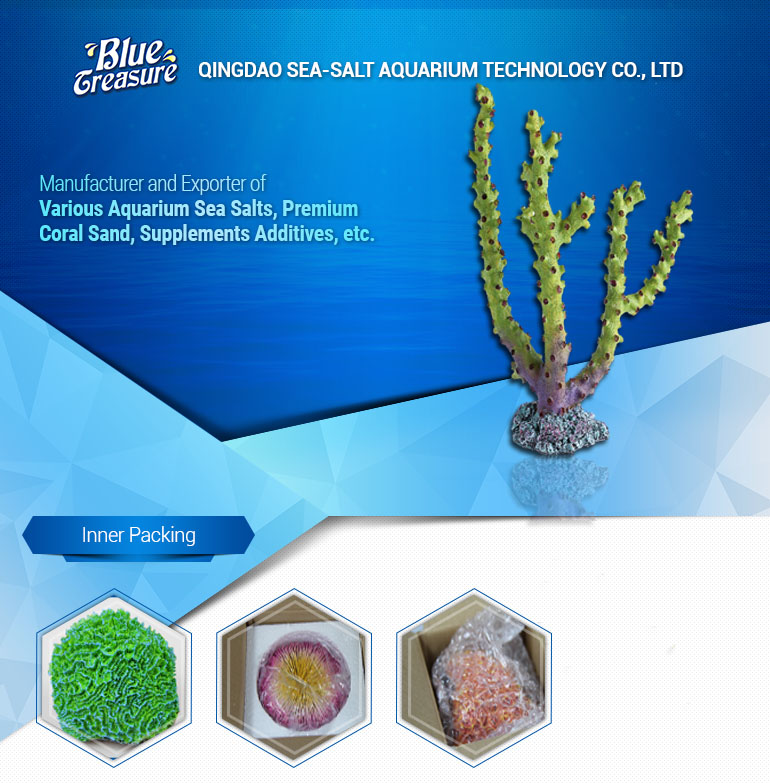 Unique Green Resin Coral Decorations For Fish Tanks