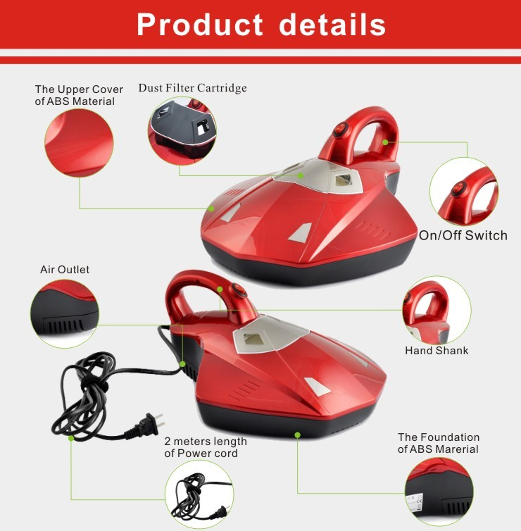 Strong suction uv Household Bed vacuum cleaner 300w