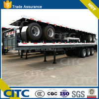 China cheap price 40ft 3axles shipping container flatbed trailer with twist lock