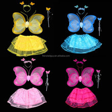 wholesale 4pieces set fairy wing with tutu dress FGWG-1039
