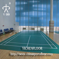 Professional lg pvc sports floor for badminton court