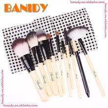 Wholesale 10pcs Synthetic Hair Wood Handle Cosmetic maquillaje Makeup Brush Set
