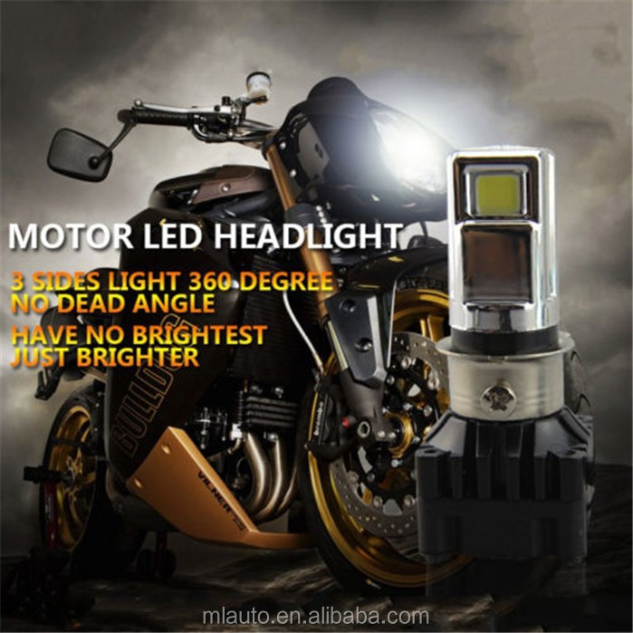 DC9-15V motorcycle led headlight 15W hi/lo beam fan cool led headlamp lights