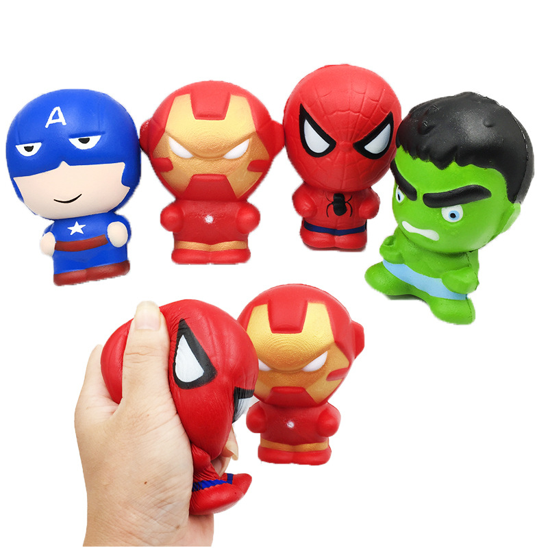 Amazon Ebay Hot Sale Super Hero Squishy Slow Rising superman ironman Squishies Toy Jumbo Squeeze Stress Relief Toys For <strong>Kid</strong>