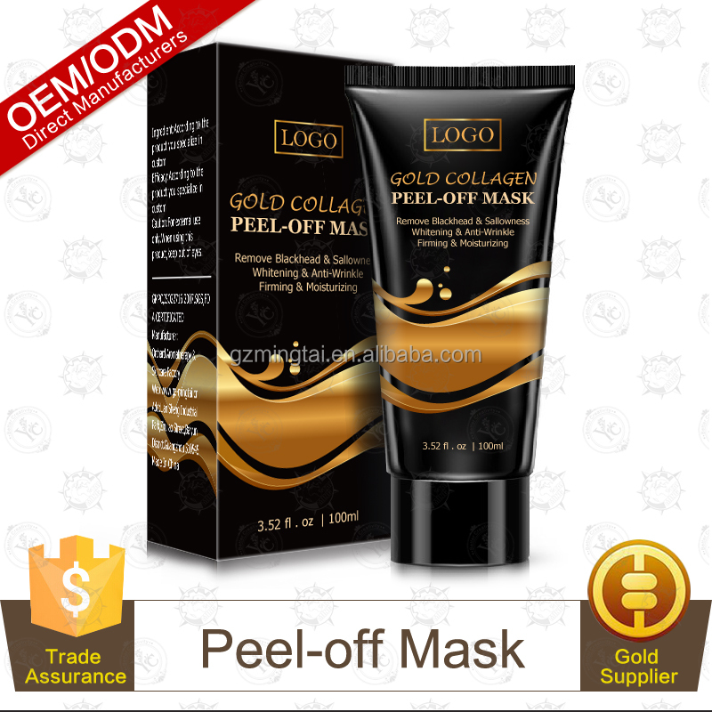 Best selling Whitening Anti Wrinkle Remove Blackheads Facil ,Peel off Gold Collagen Crystal Face Mask 120g