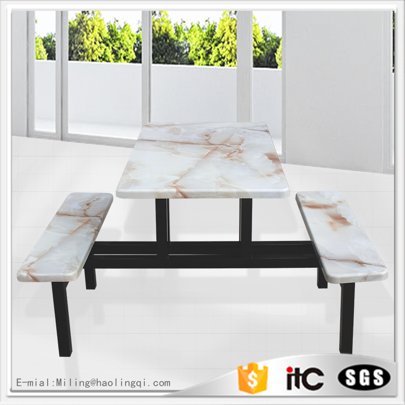 2017 New products artificial marble table Outdoor recreation Garden dining table marble dining table marble