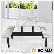Modern! marble outdoor waterproof anti-corrosion dining table