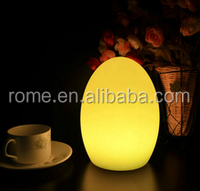 hotel used novelty lamp changed colors egg shaped led light/2016 top selling eco-friend table lamp