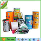 custom print food packaging plastic aluminum foil laminating roll film pouch