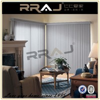 Fancy fabric make vertical blind for office
