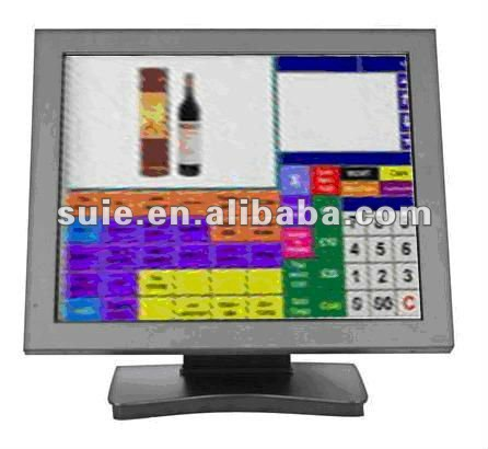 15 inch Dual Touch Screen Ethernet POS System