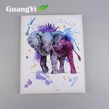 Modern design cheap colorful cartoon office decoration elephant oil painting