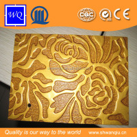 Hot sale !WQ brand wall panel 3d board embossed mdf /embossed panel/embossed panel 3mm 18 mm