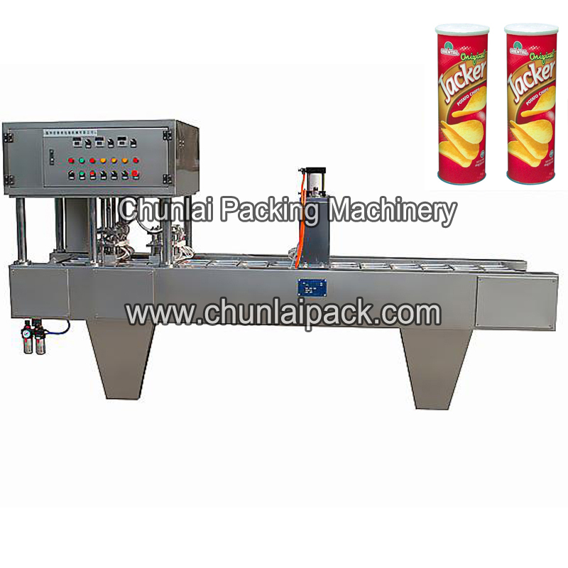 Automatic Potato Chips Paper Can Sealing Machine