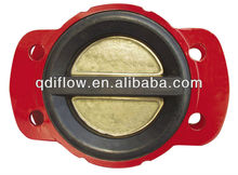 Wafer double check valve rubber lined suitable for sea water