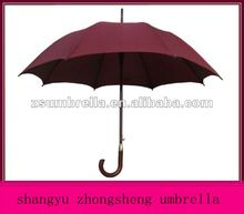 straight umbrella wooden handle logo printed drink umbrellas