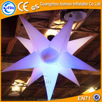 2016 Outdoor hanging led christmas star inflatable lighted star for wedding/party