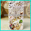 Silver Lion 3D Handmade Bling Crystal Cover Case For iPhone 4 4s