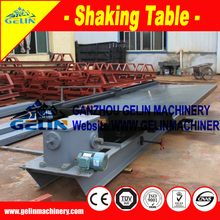 Low cost concentrating table for rutile ore