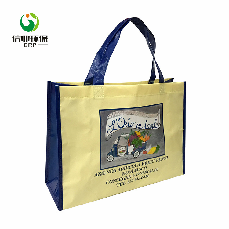 BSCI ISO Promotional use pp non woven laminated beach bag
