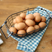 Wholesale wire mesh basket wire egg basket with handles