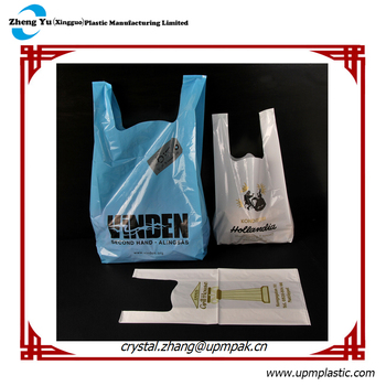 Branded Singlet Handle Plastic Bags for Shopping