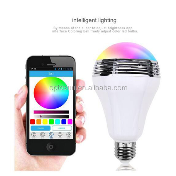 2016 hot promotion custom logo new flux <strong>bluetooth</strong> wifi controlled led bulb light
