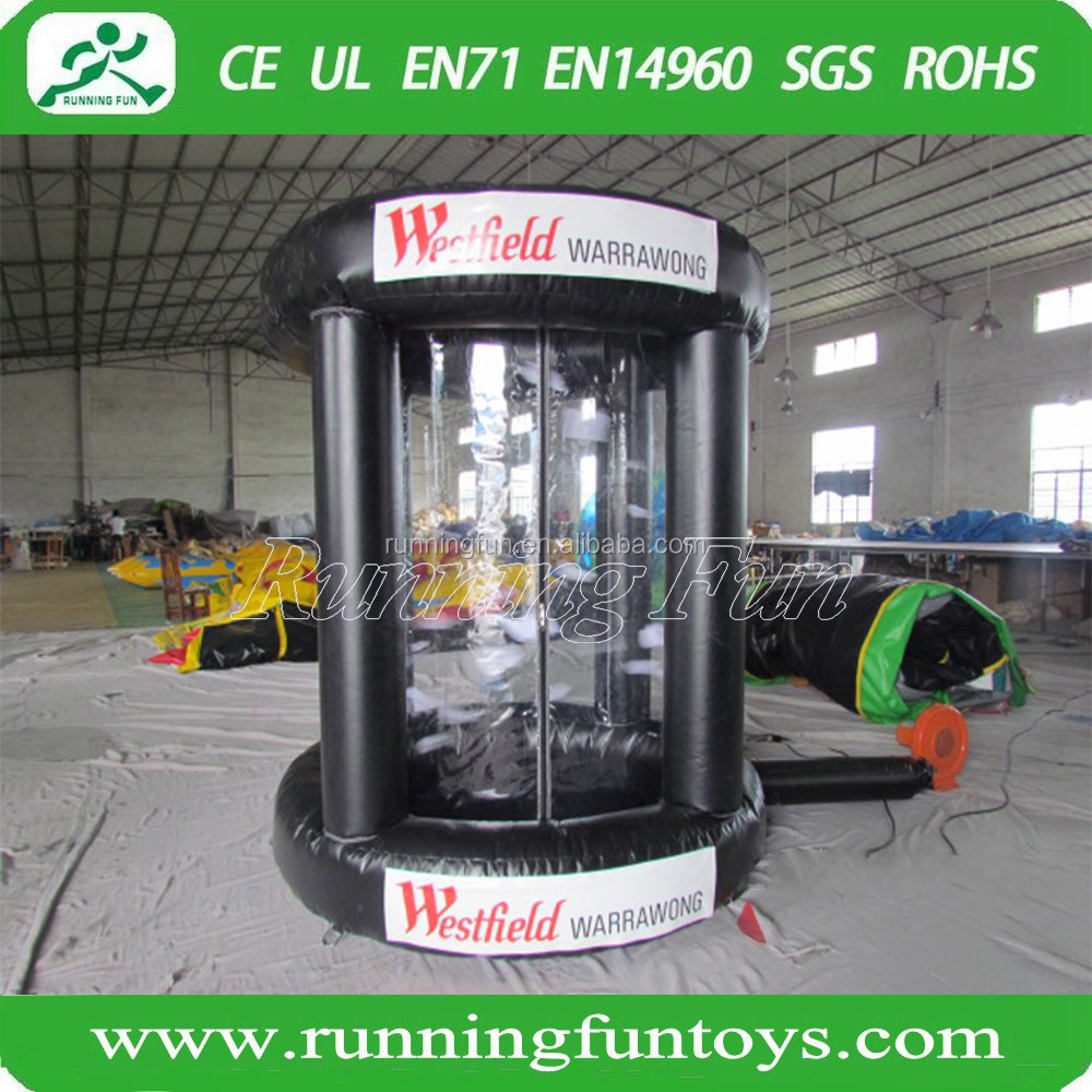 inflatable money booth/inflatable money box game/custom made inflatable money machine(Running Fun)