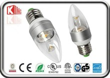 CE EMC LVD RoHS approved 360 degree E14/E27/B22 dimmable led candle light, LED candle bulb