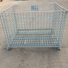 galvanized wire mesh container steel storage cage cargo