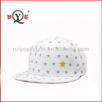 Hot New Products Original Applique Star White Snapback Baseball Cap