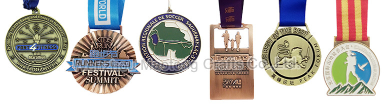 New make metal medals and trophies with ribbon Trending