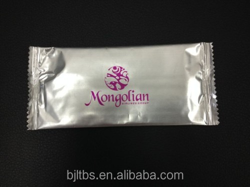 disposable single pack customized mentol scent napkin