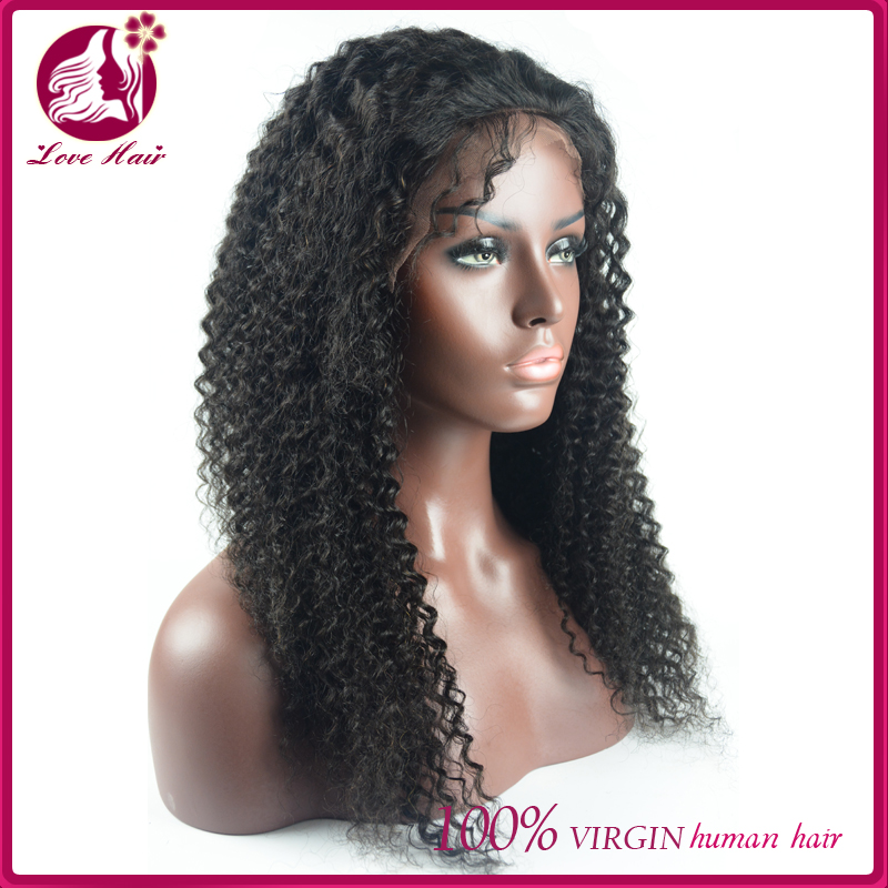 2016 Latest fashion lace design modern lace front wig burmese human hair jerry curl hair full lace wig