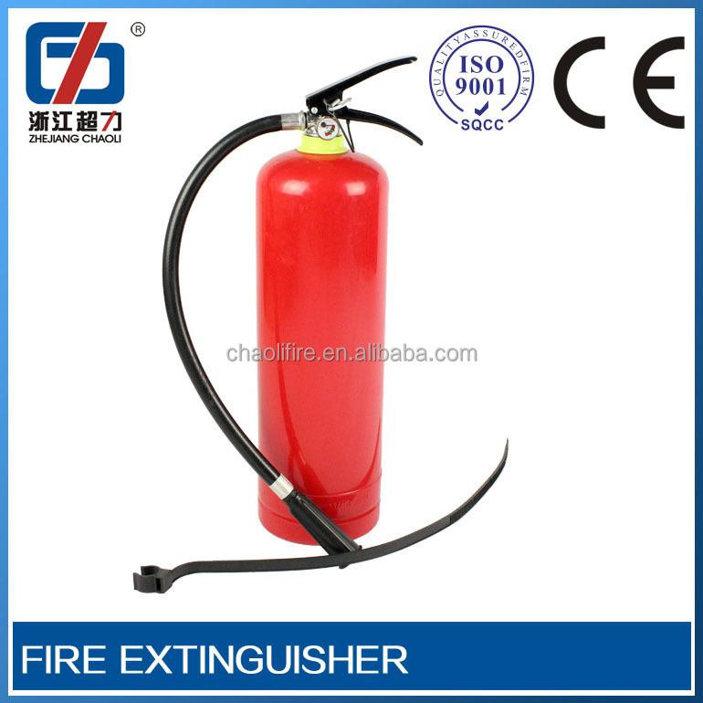 cart type co2 gas cylinder with female screw thread extinguisher